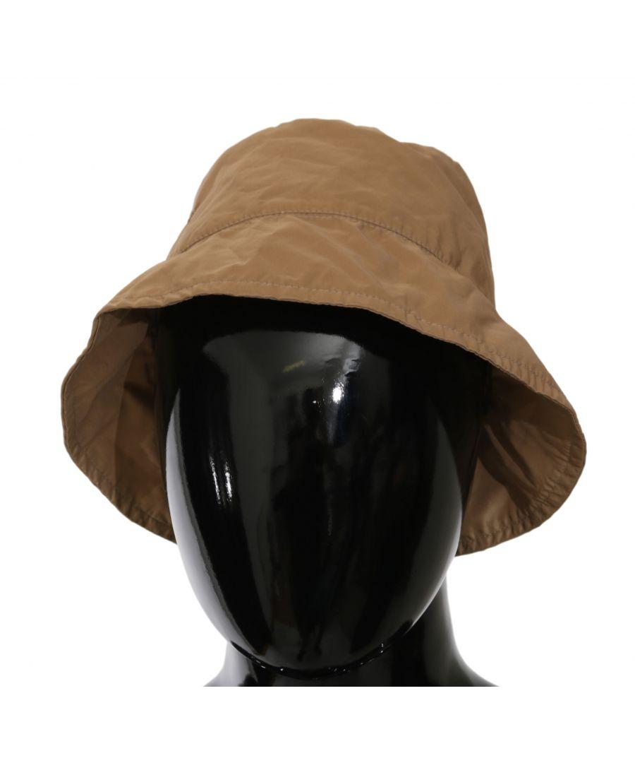 Image for Ermanno Scervino Brown Beige Women Bucket Hat Outdoor Hat