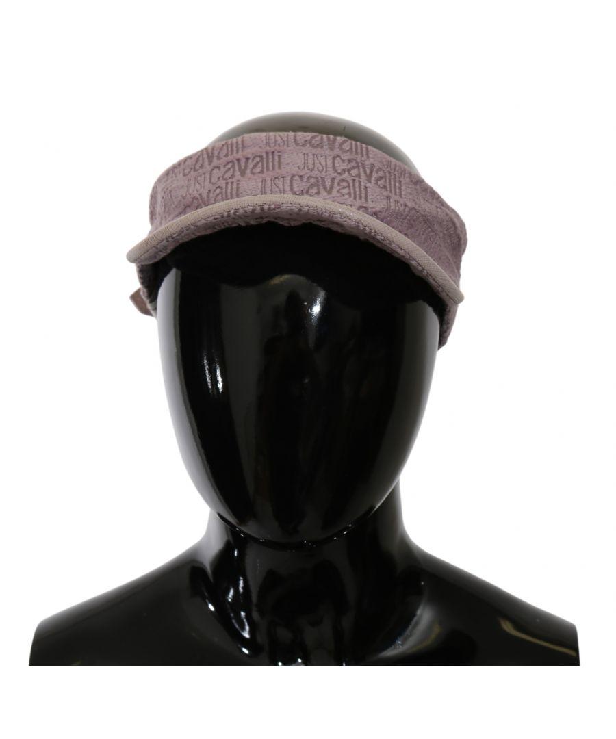 Image for Just Cavalli Pink Cotton Women Sun Visor Outdoor Cap