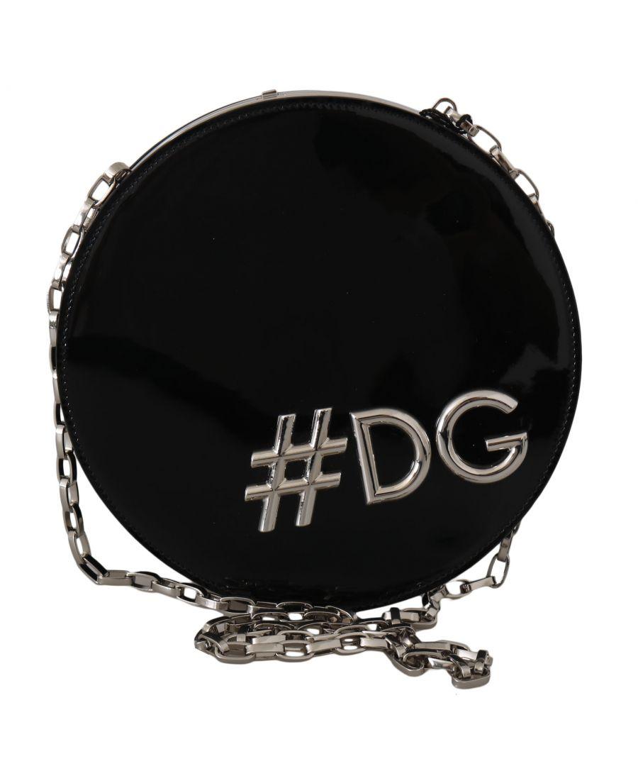 Image for Dolce & Gabbana Black Leather Shoulder #DG GIRLS Clutch Purse