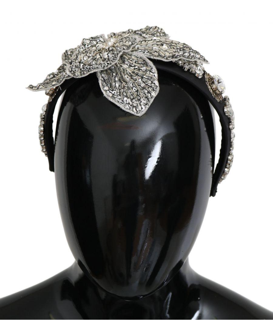 Image for Dolce & Gabbana Black Crystal Silver Diadem Tiara Headband