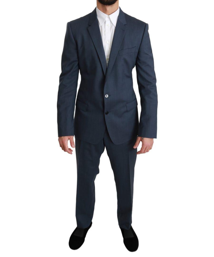 Image for Dolce & Gabbana Blue DG Patterned Classic Slim Necktie Tie