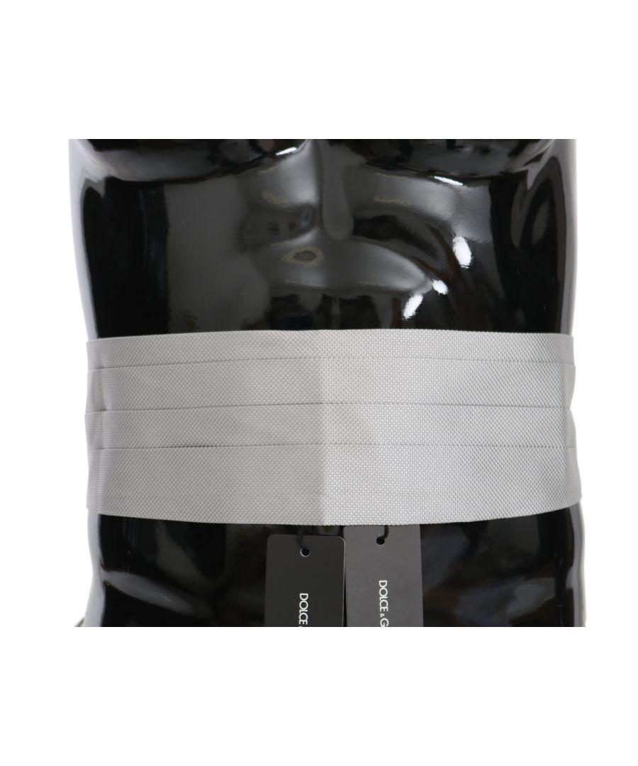 Image for Dolce & Gabbana Gray Men Waist Belt 100% Silk Cummerbund