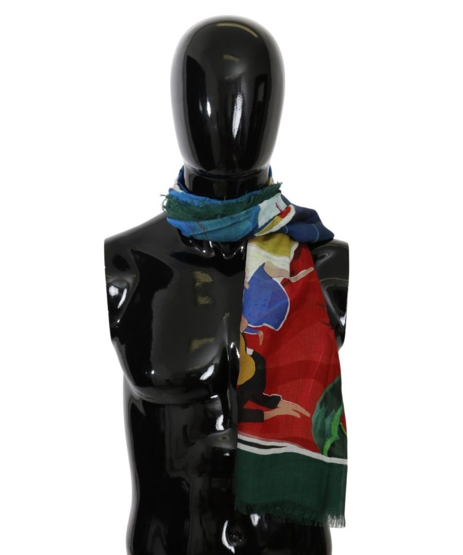Image for Dolce & Gabbana Multicolor Modal Sorrento Wrap Shawl Scarf