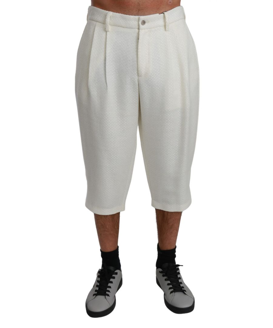 Image for Dolce & Gabbana White 3/4 Casual Trouser Cotton Pants