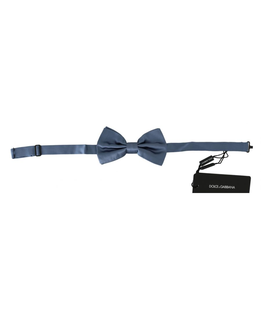 Image for Dolce & Gabbana Blue 100% Silk Adjustable Neck Papillon Bow tie