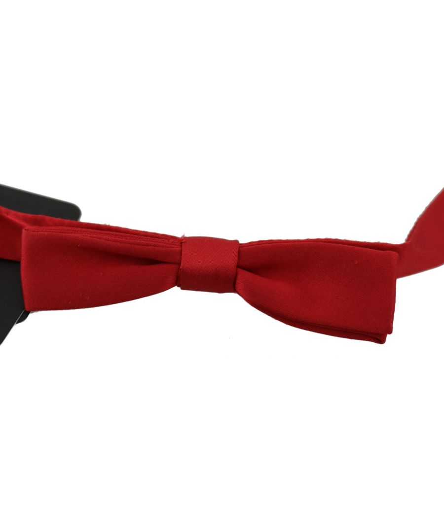 Image for Dolce & Gabbana Red 100% Silk Slim Adjustable Neck Papillon Bow Tie