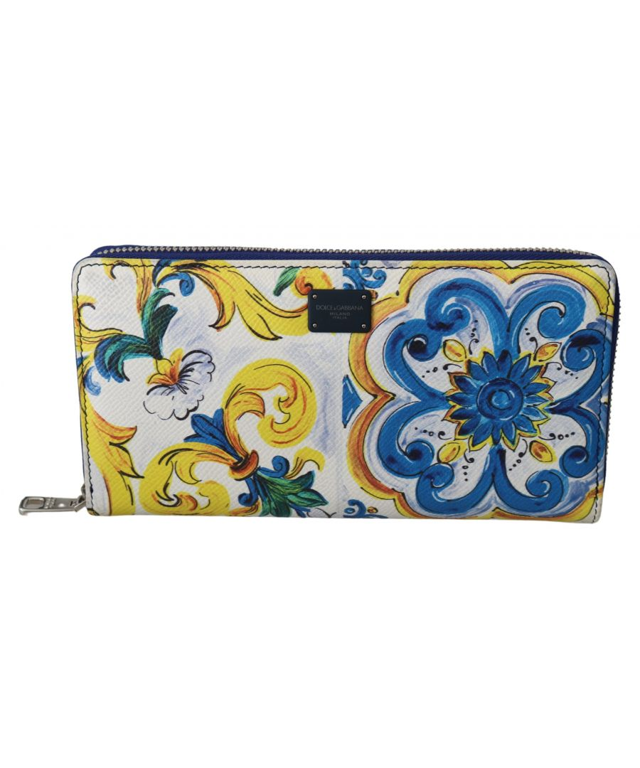 Image for Dolce & Gabbana Majolica Dauphine Leather Continental Clutch Wallet