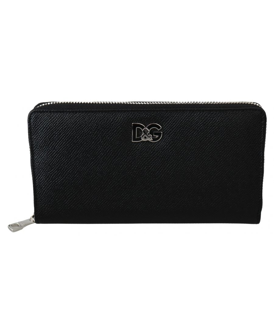 Image for Dolce & Gabbana Black Dauphine Leather Continental Mens Clutch