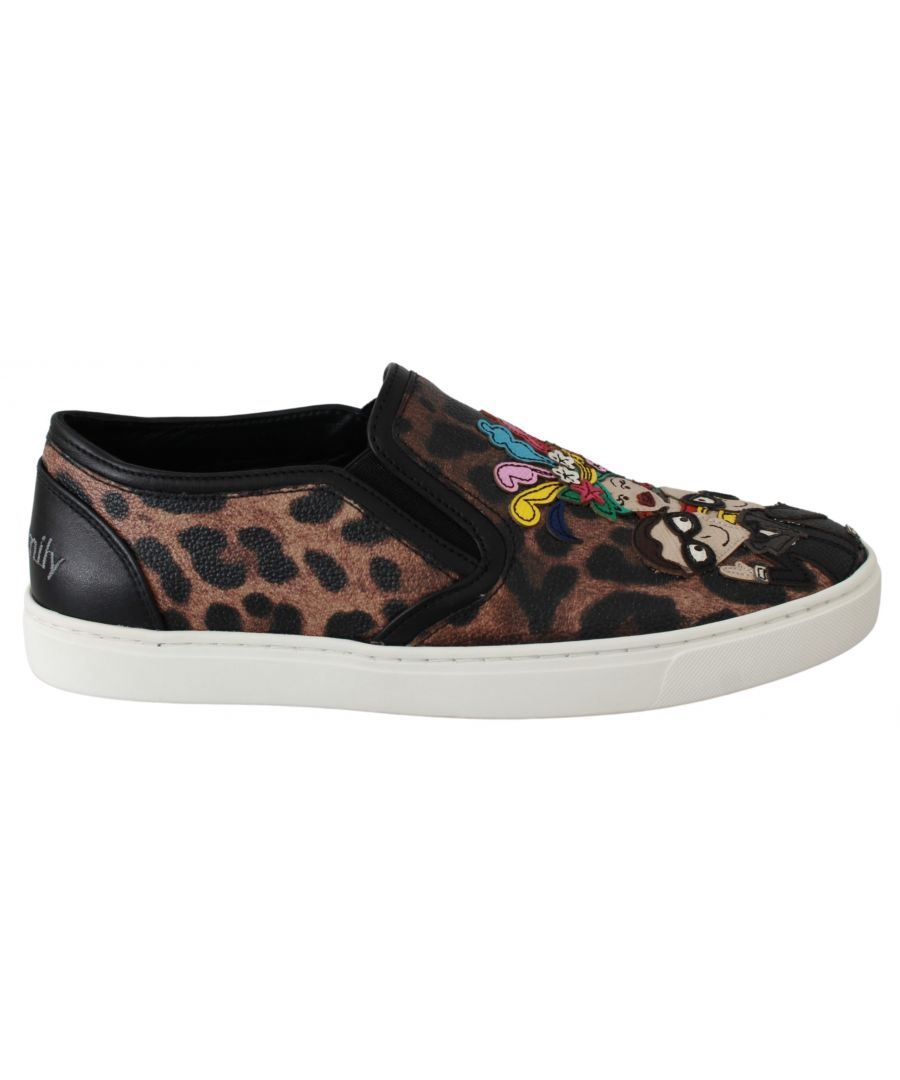 Image for Dolce & Gabbana Leather Leopard #dgfamily Loafers Shoes
