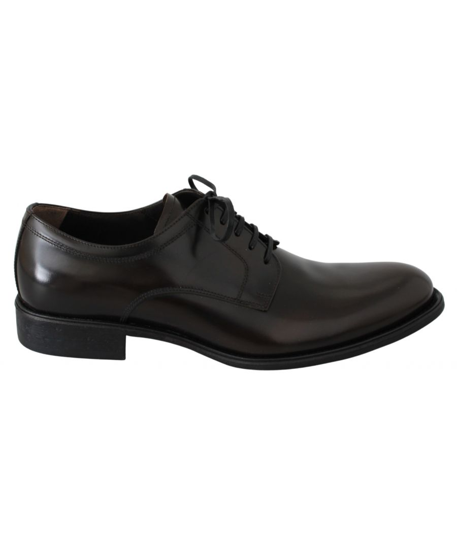 Image for Dolce & Gabbana Brown Leather Derby Formal Dress Mens Shoes