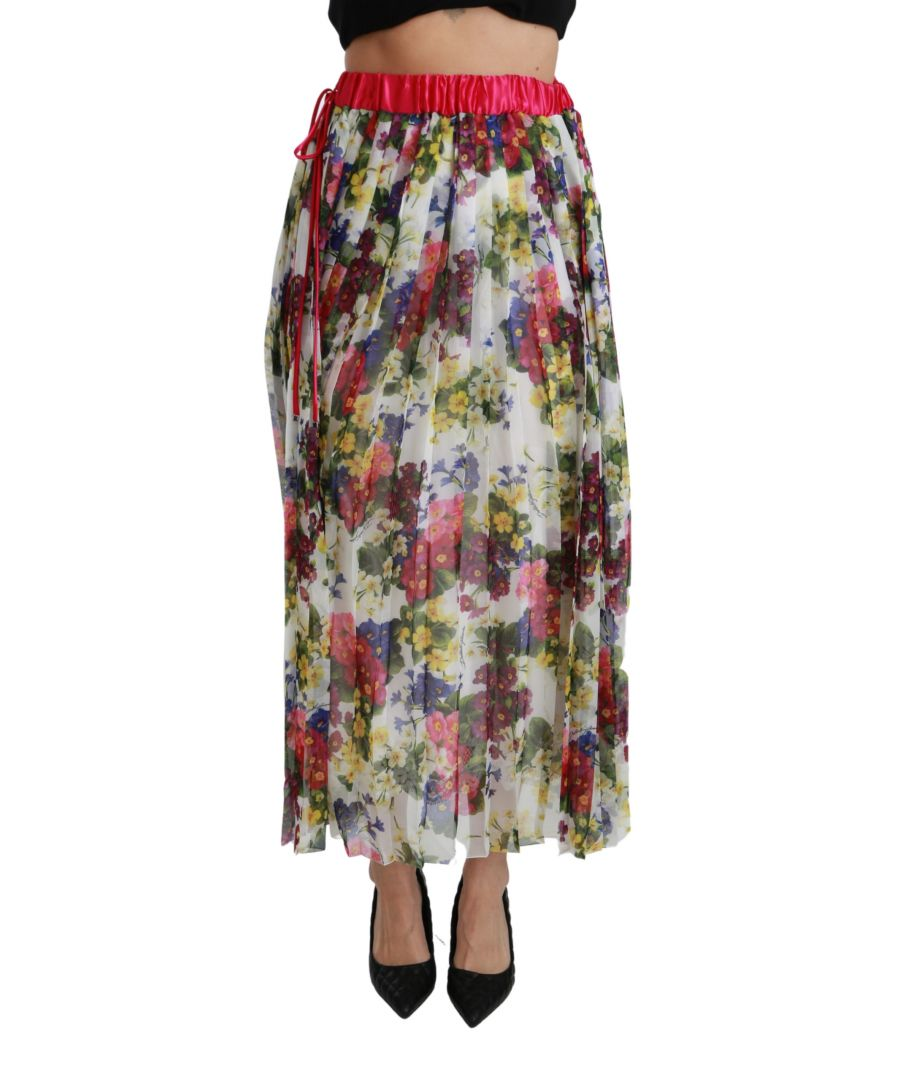 Image for Dolce & Gabbana Multicolor Floral Print Maxi Gonna Skirt