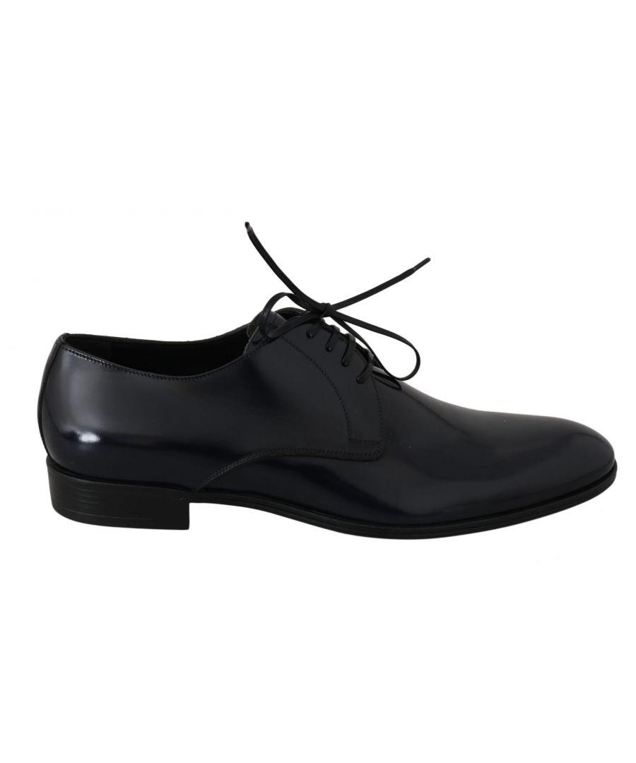 Image for Dolce & Gabbana Blue Leather Dress Derby Formal Mens  Shoes