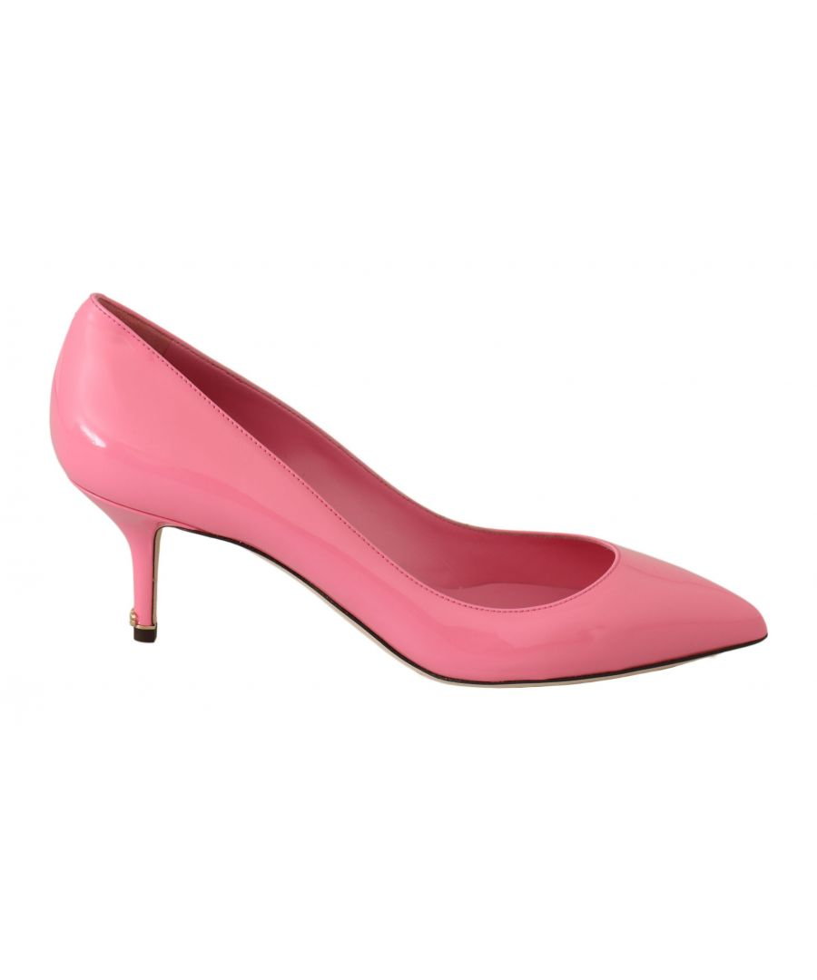 Image for Dolce & Gabbana Pink Patent Leather Heels Pumps