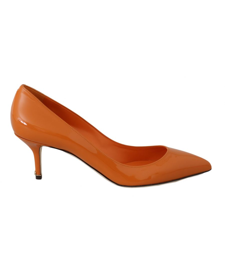 Image for Dolce & Gabbana Orange Patent Leather Heels Pumps