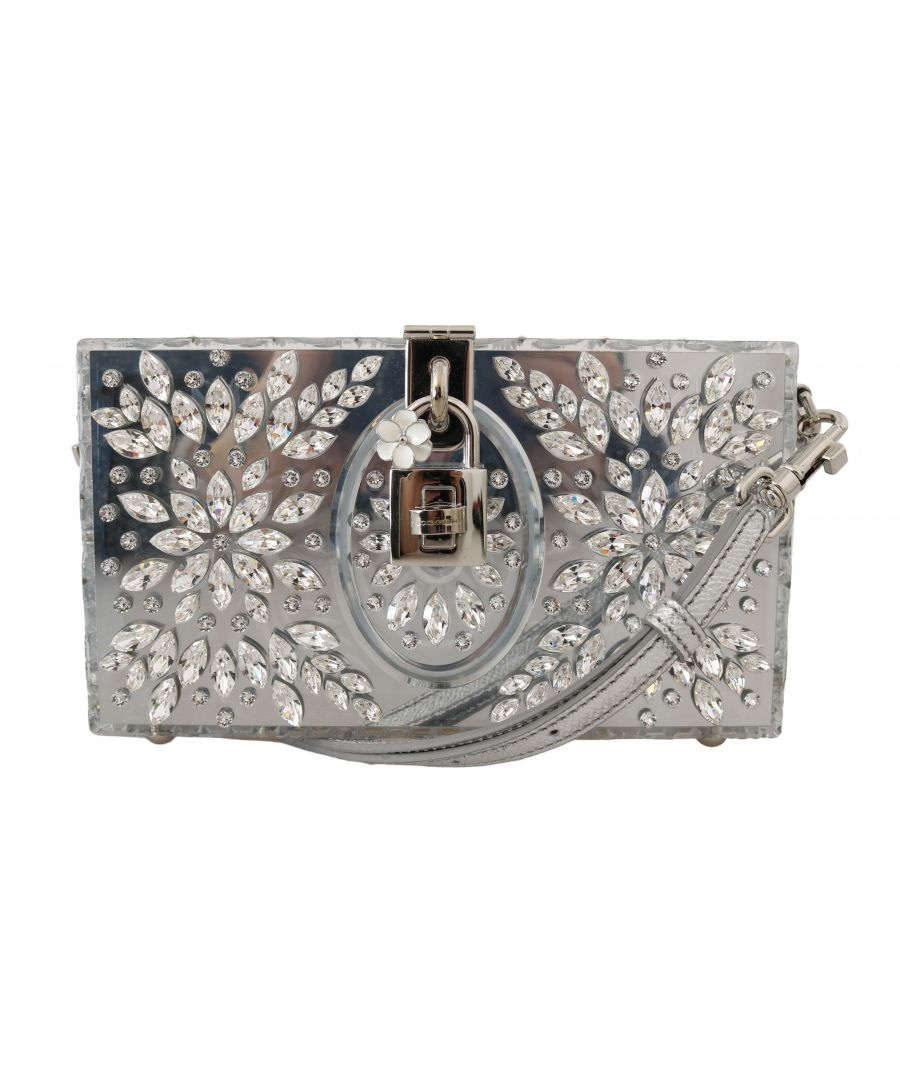 Image for Dolce & Gabbana Silver Plexi Crystal SICILY Clutch Purse
