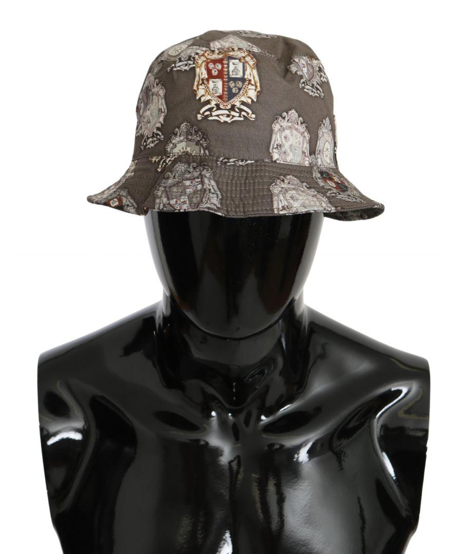 Image for Dolce & Gabbana Beige Brown Cotton DG Logo Panama Cap Hat