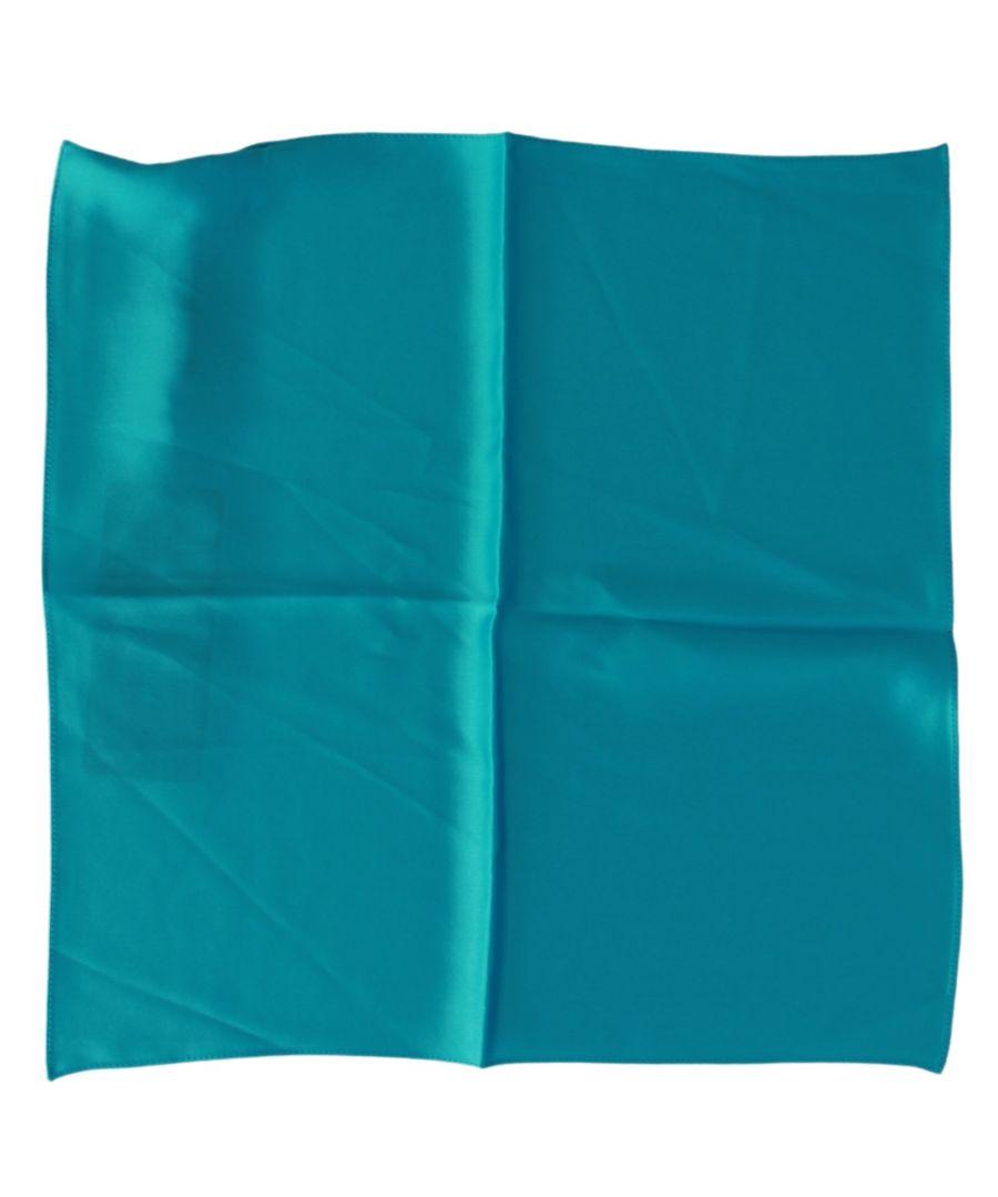 Image for Dolce & Gabbana Blue Bandana Silk Square Handkerchief  Scarf