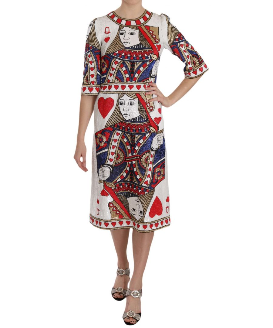 Image for Dolce & Gabbana Queen Of Hearts Card Sequined RUNWAY  Dress