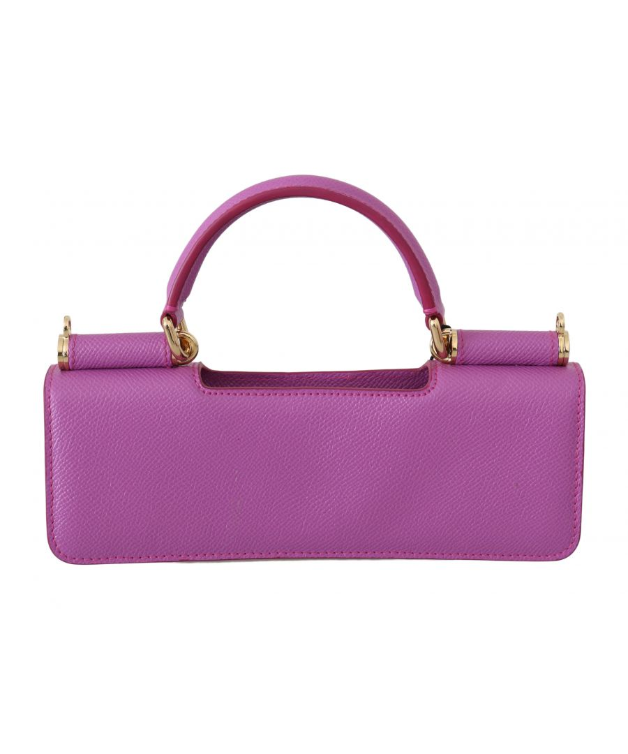 Image for Dolce & Gabbana Purple Leather Push Button Accessory Micro Bag