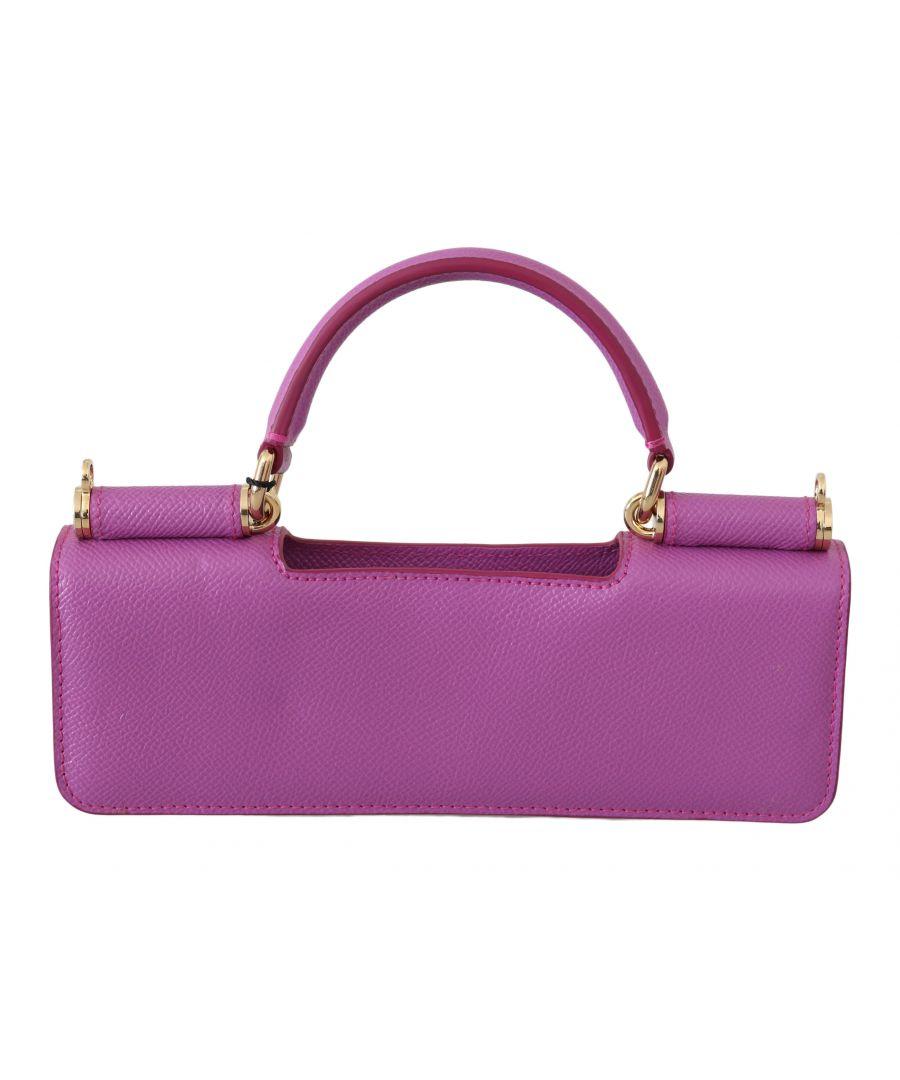 Image for Dolce & Gabbana Pink Clutch Box Shoulder Hand Bag Purse Wooden AMORE