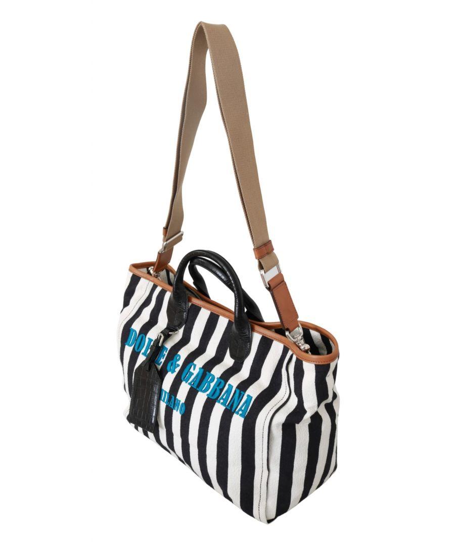 Image for Dolce & Gabbana Black Blue #DG Men Shoulder Strap Shopping Tote Bag