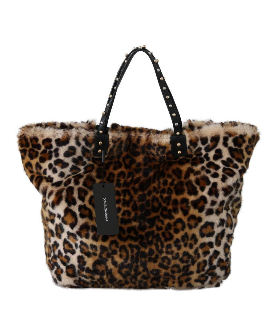 Image for Dolce & Gabbana Brown Leopard Handbag Shopping Tote Borse BEATRICE Bag