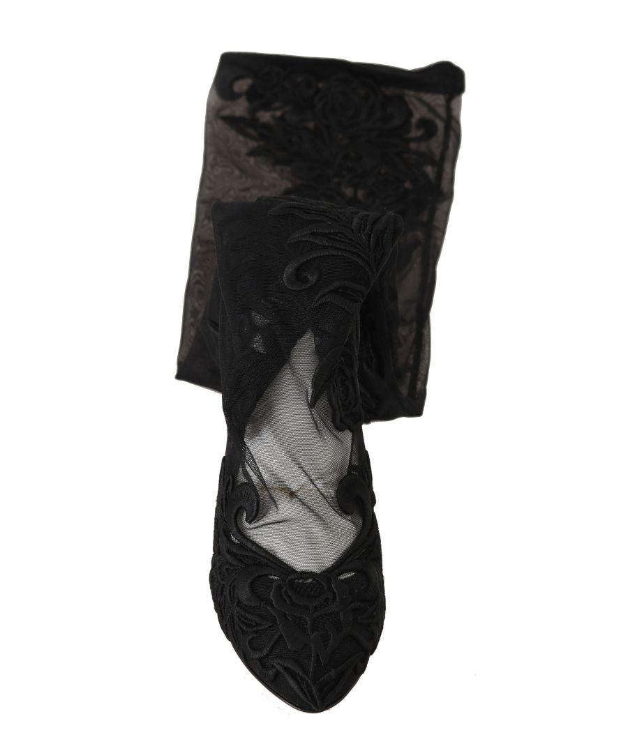 Image for Dolce & Gabbana Black Velvet Crystal Beaded Loafers