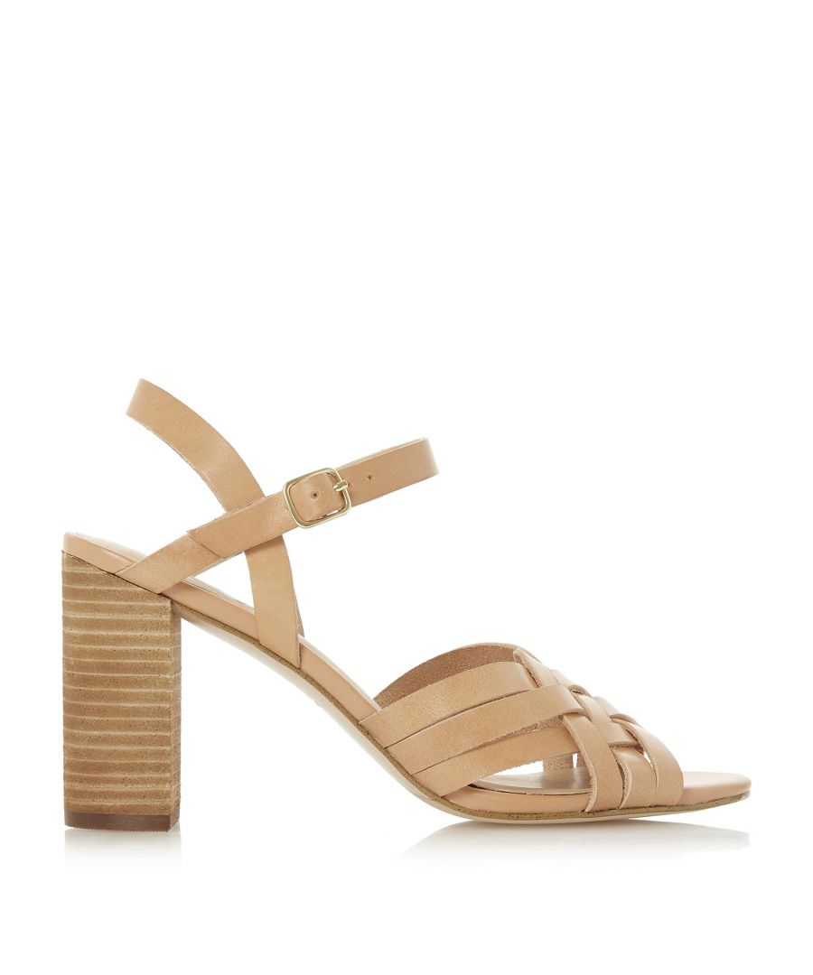 Image for Dune Ladies IMMIGEN Woven Front Strap Mid Heel Sandal