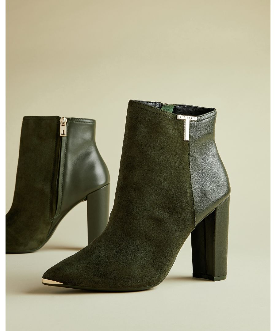 Image for Ted Baker Inala T Detail Suede Boot, Khaki
