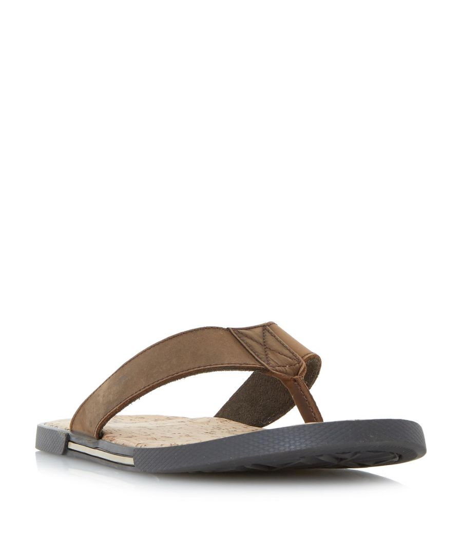 Image for Dune Mens INDIE Cork Footbed Toepost Sandal