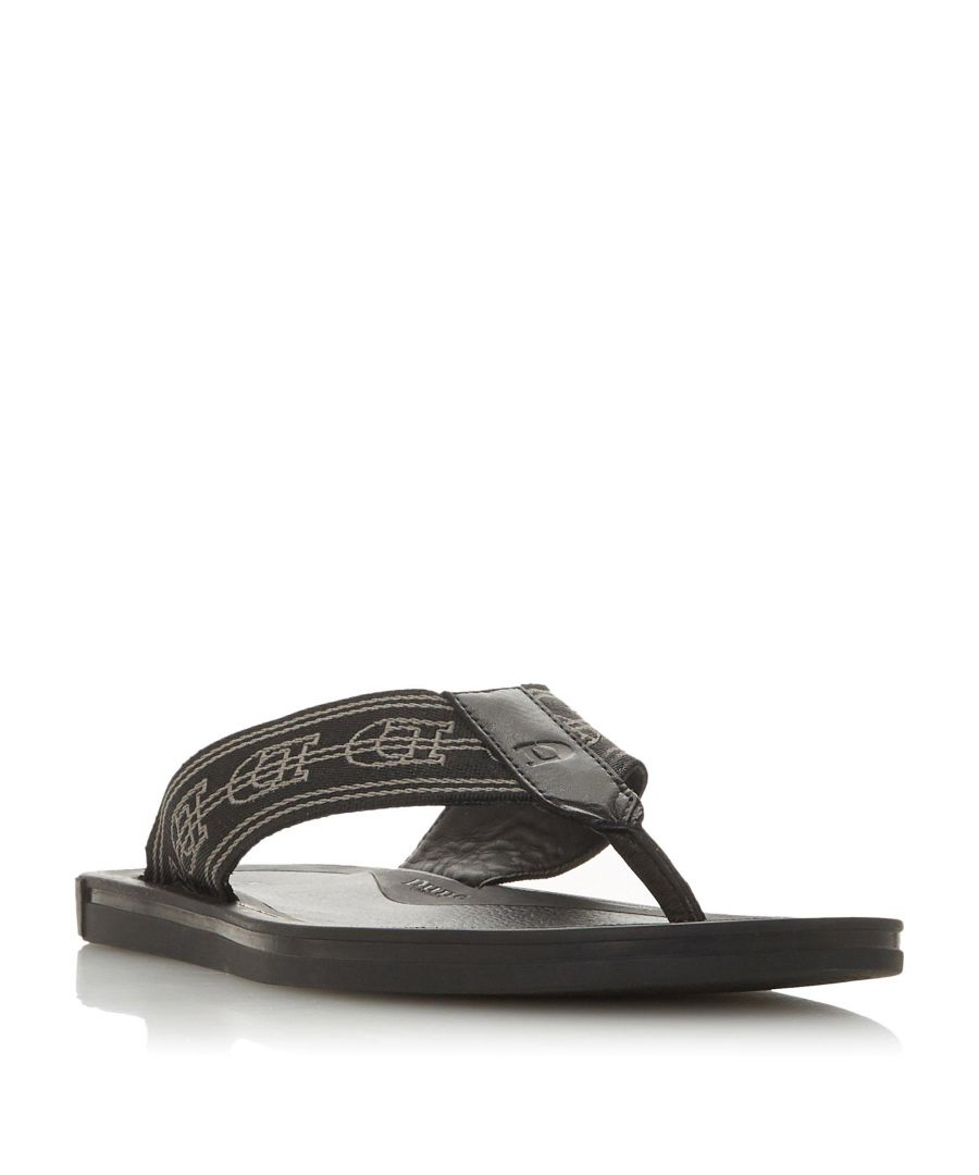 Image for Dune Mens INFINITE Logo Print Flip Flop