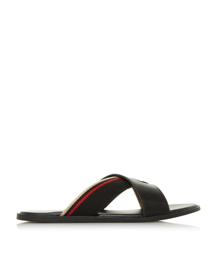 Image for Dune Mens INSTINCT Contrasting Cross Strap Sandal
