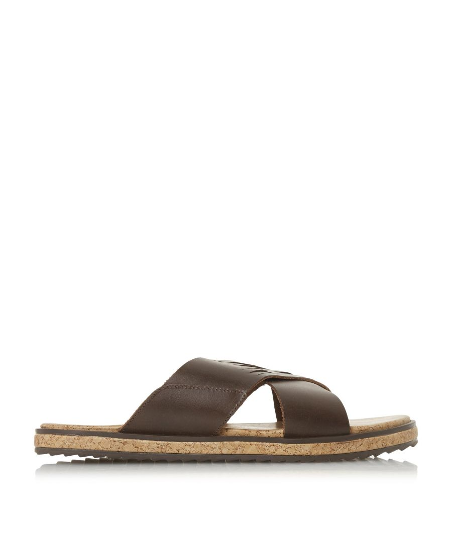 Image for Bertie Mens IRIC Wide Cross Over Strap Sandals