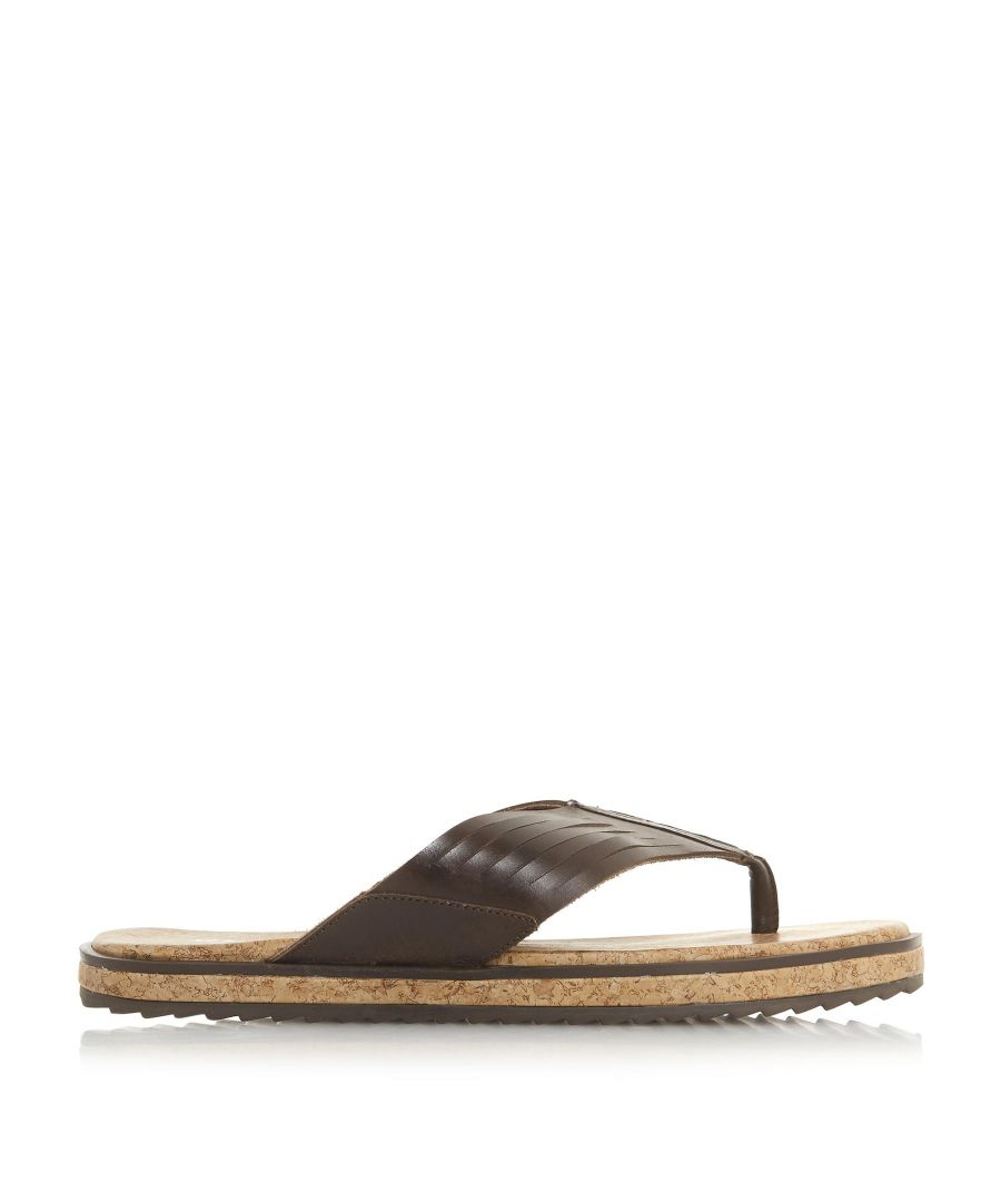 Image for Bertie Mens ISOLATE Wide Strap Toe Post Sandals