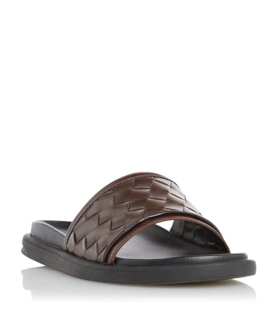 Image for Dune Mens IVO Lattice Slider Sandals