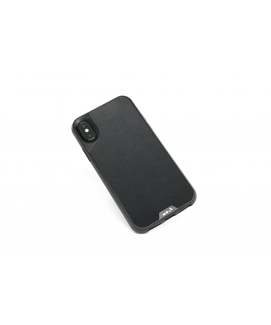 Image for Mous - Protective Case for iPhone X/XS - Limitless 2.0 - Black Leather - Screen Protector Included