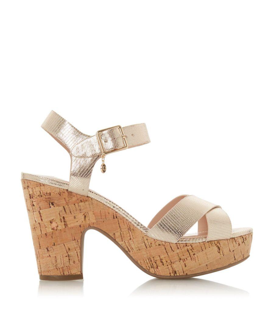 Image for Dune Ladies IYLENE Block Heel Two Part Sandals