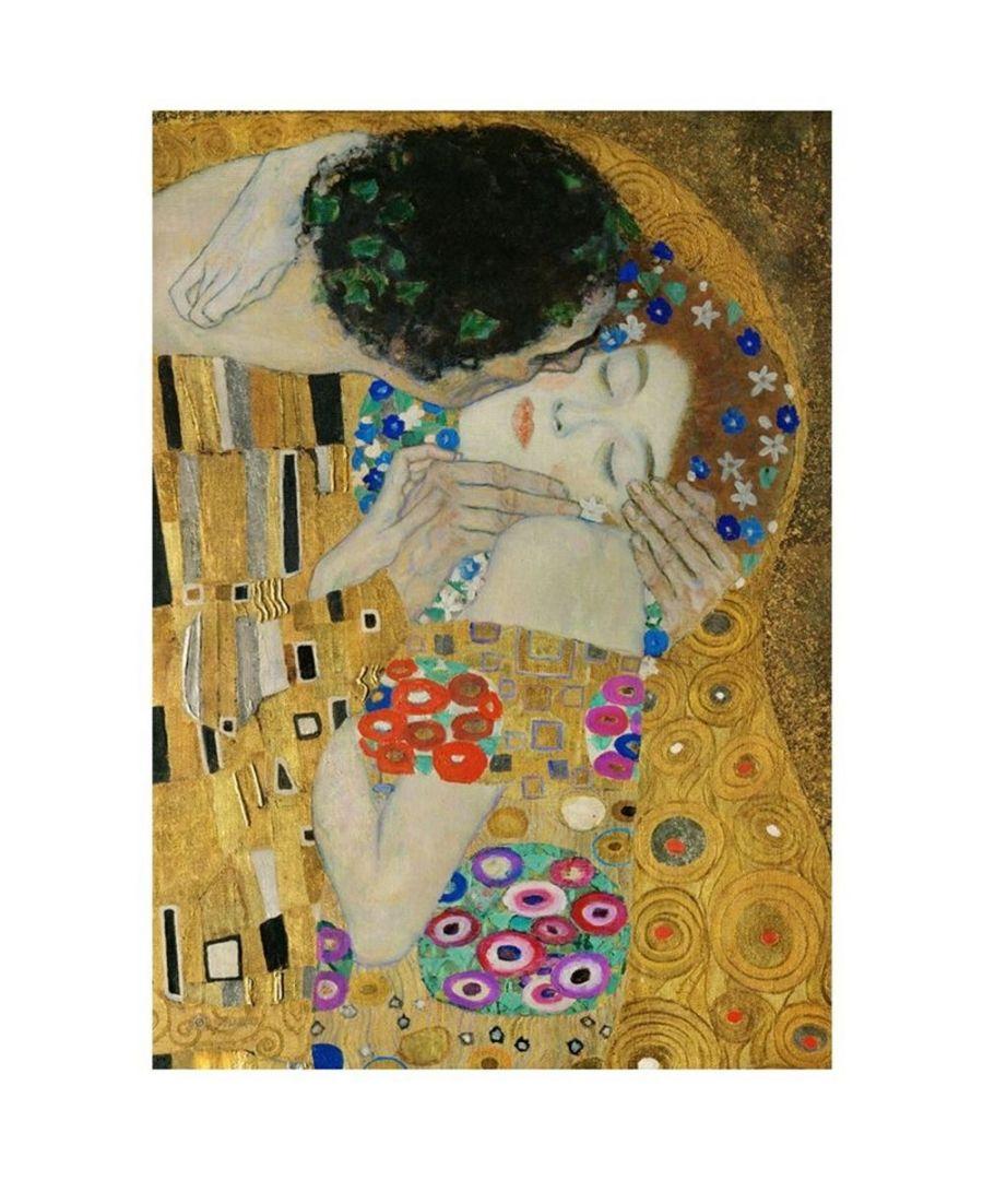 Image for Canvas Print - The Kiss (Particular) - Gustav Klimt Cm. 80x100