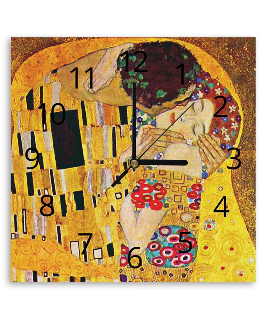 Image for Wall Clock - The Kiss (Detail) - Gustav Klimt Cm. 30x30