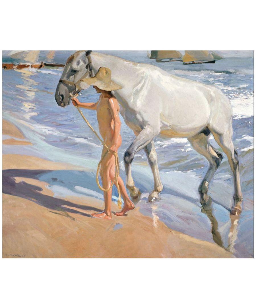 Image for Canvas Print - The Horse'S Bath - Joaquín Sorolla Cm. 50x60