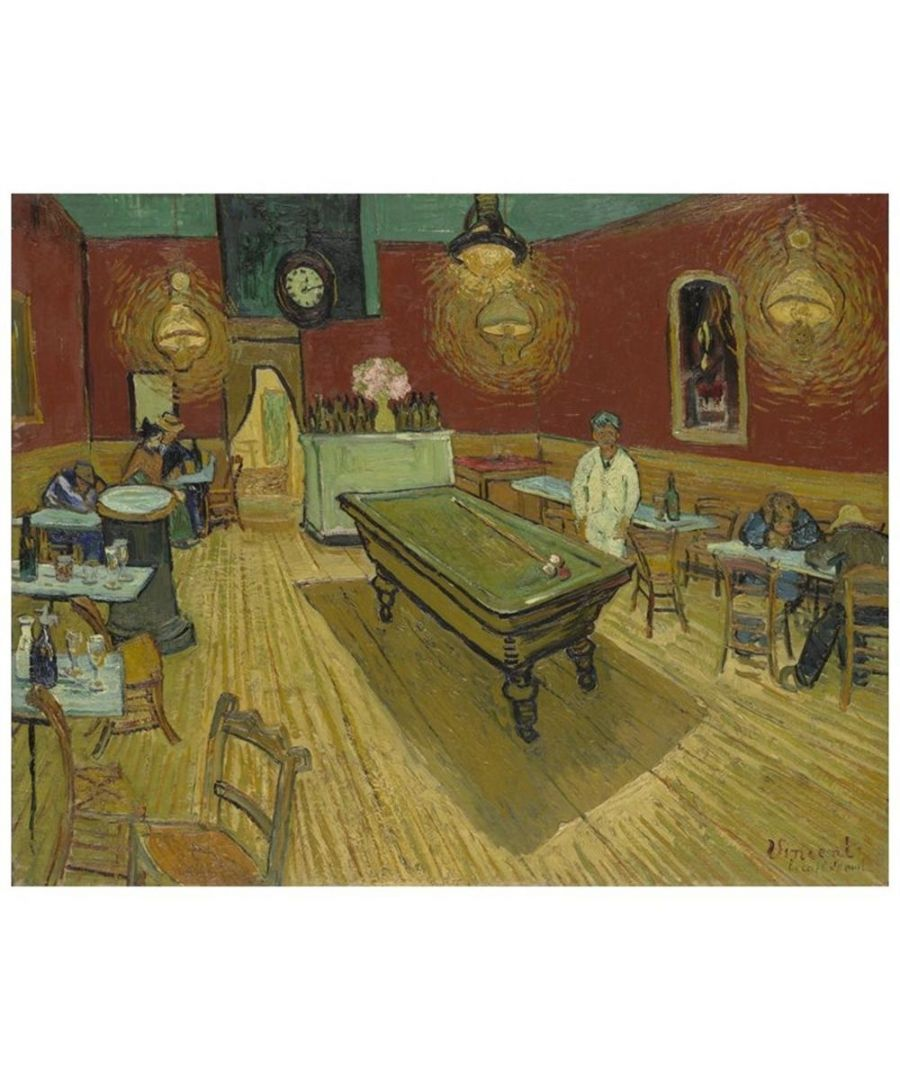 Image for Canvas Print - The Night Café - Vincent Van Gogh Cm. 60x75