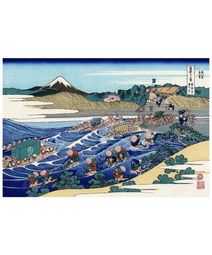 Image for Canvas Print - The Fuji From Kanaya On The Tokaido - Katsushika Hokusai Cm. 80x120