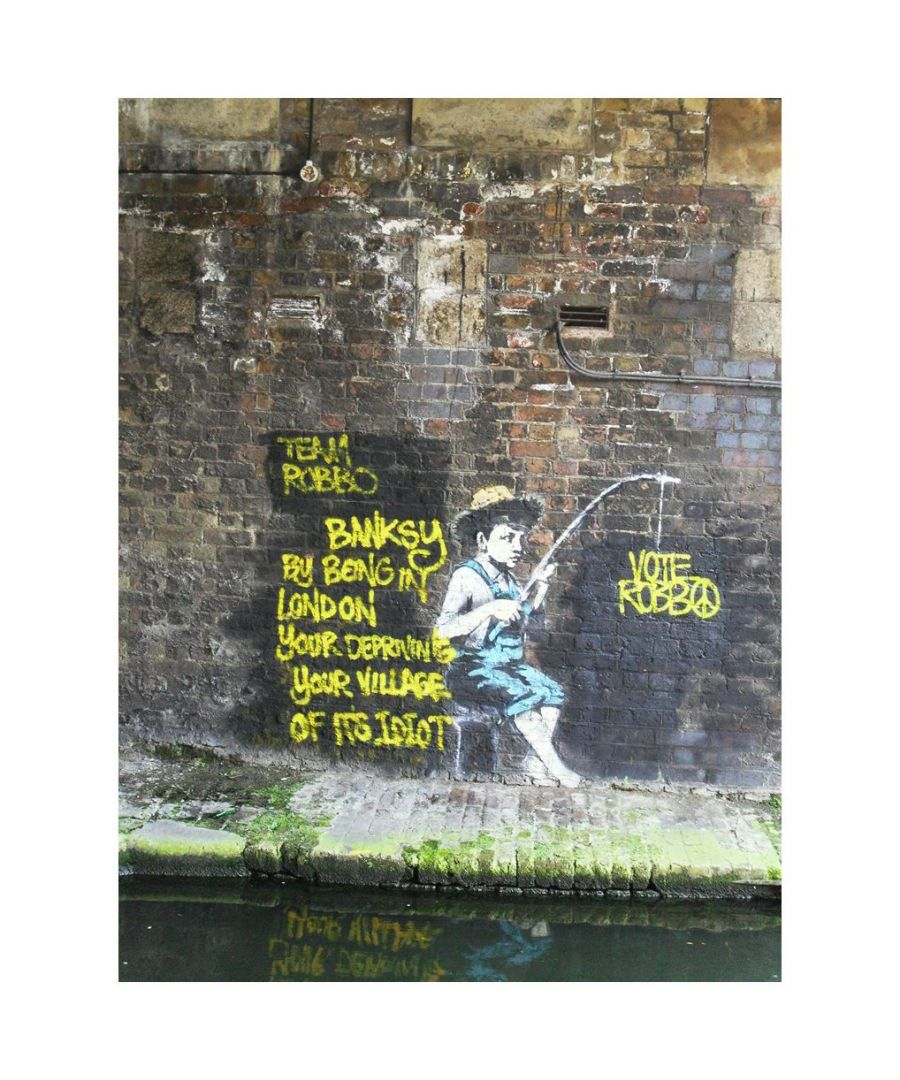 Image for Canvas Print - Fisherman, Banksy cm. 60x80