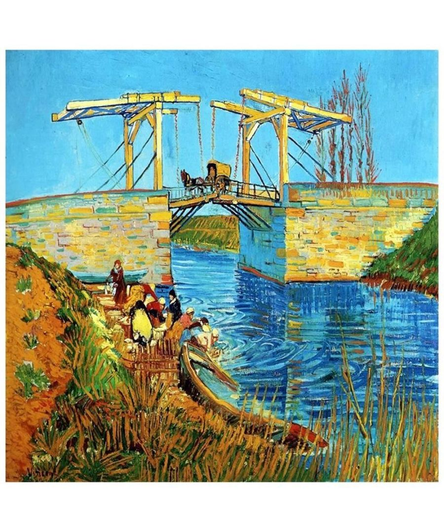 Image for Canvas Print - Bridge At Arles (Pont De Langlois) - Vincent Van Gogh Cm. 90x90