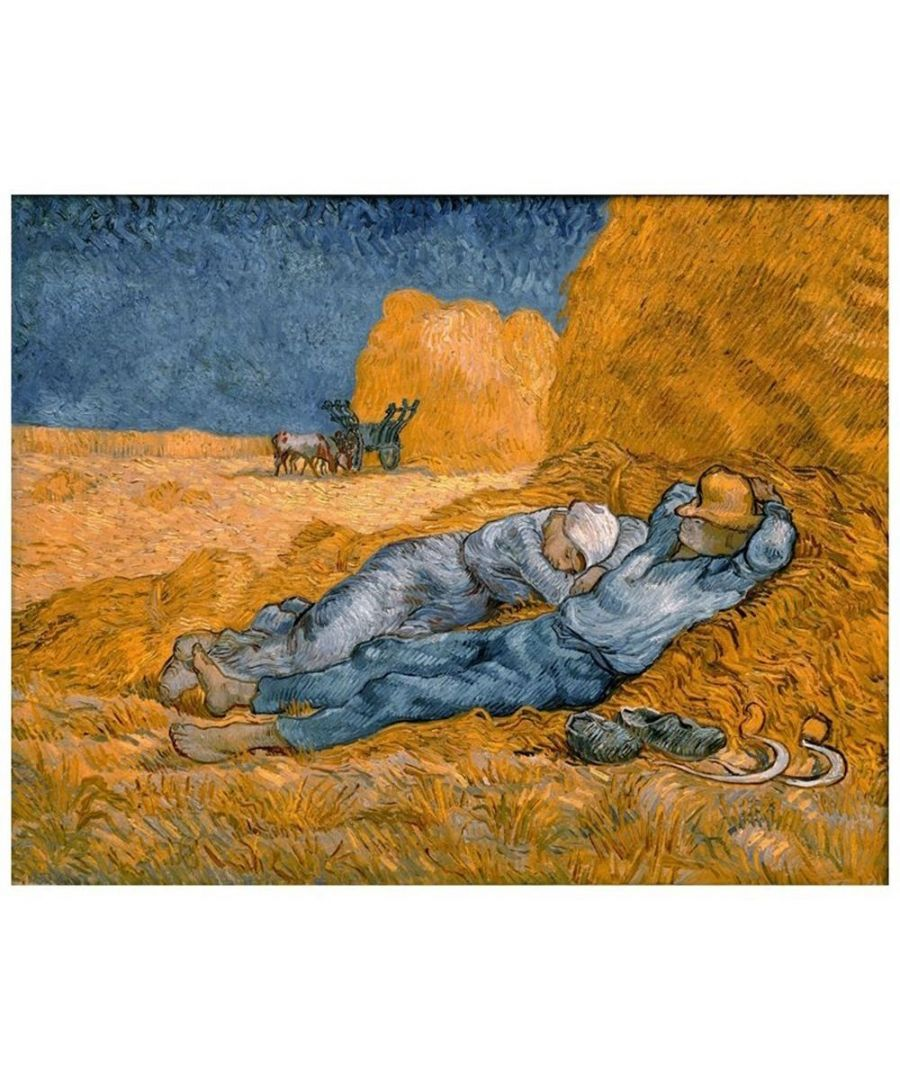 Image for Canvas Print - Rest From Work - Vincent Van Gogh Cm. 50x60