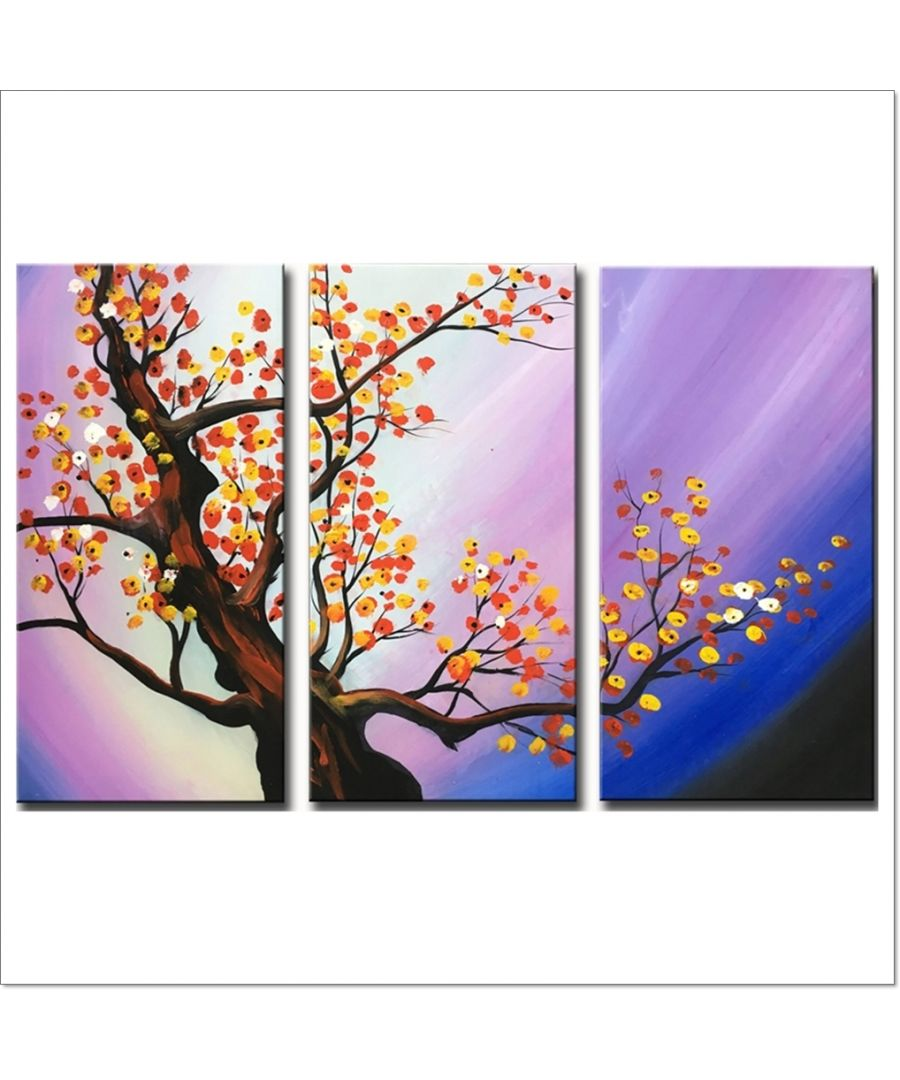 Image for Oil Painting - The Sunset Of A Tree Cm. 90x60 (3 Panels)