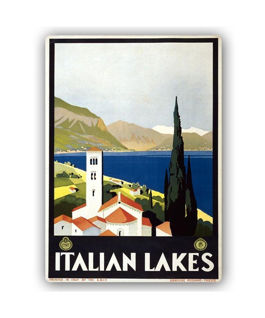 Image for Vintage Tourist Poster - Metal Print  - Italian Lakes