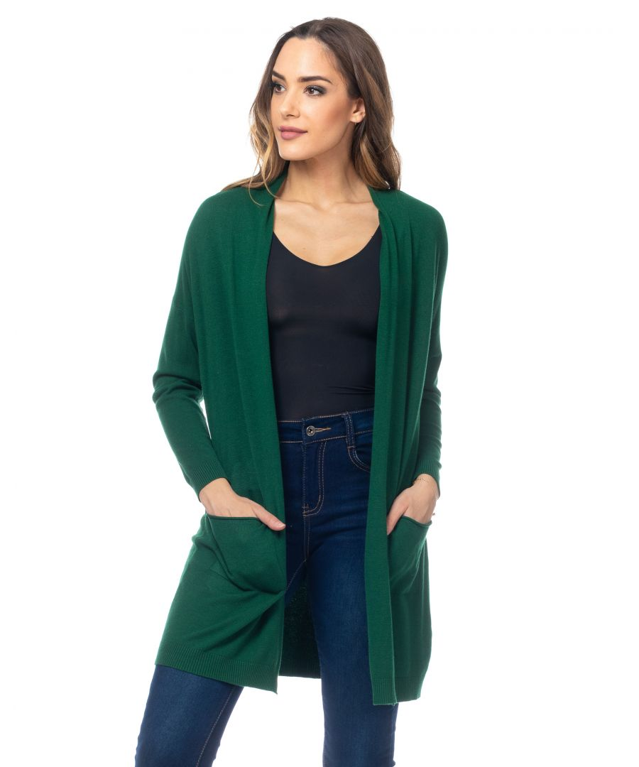 Image for Long knit jacket with pockets