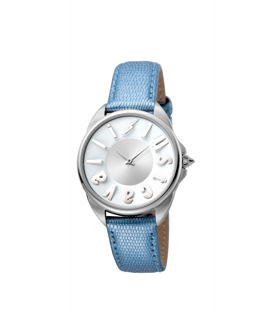 Image for Just Cavalli Women's JC1L008L0025 'Logo' Blue Leather Watch