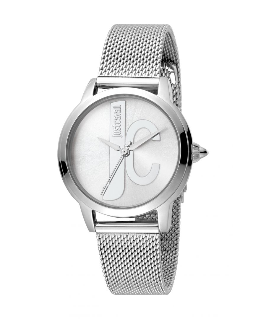 Image for Just Cavalli Womens Silver Stainless Steel Mesh Watch